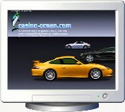 Dream Cars screensaver sponsored by Online Casino with poker and other games